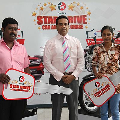 The second 2 lucky winners of Caltex Star Drive