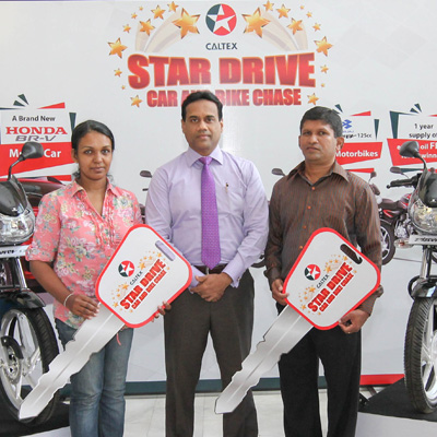 The first 2 lucky winners of Caltex Star Drive